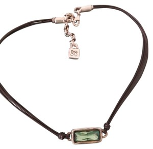 UNOde50 Aurora Borealis leather and metal necklace