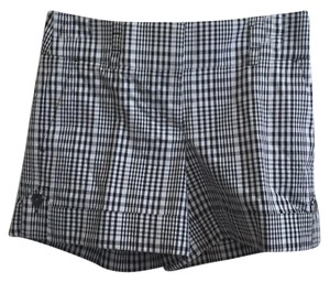 bebe Cuffed Shorts Black and white