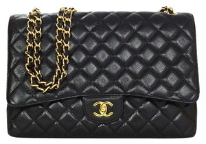 Chanel Flap Quilted Maxi Cross Body Bag