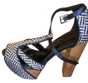 Jessica Simpson Dany Platform Black and Creme Platforms