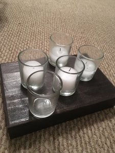 120 Clear Glass Votive Holders