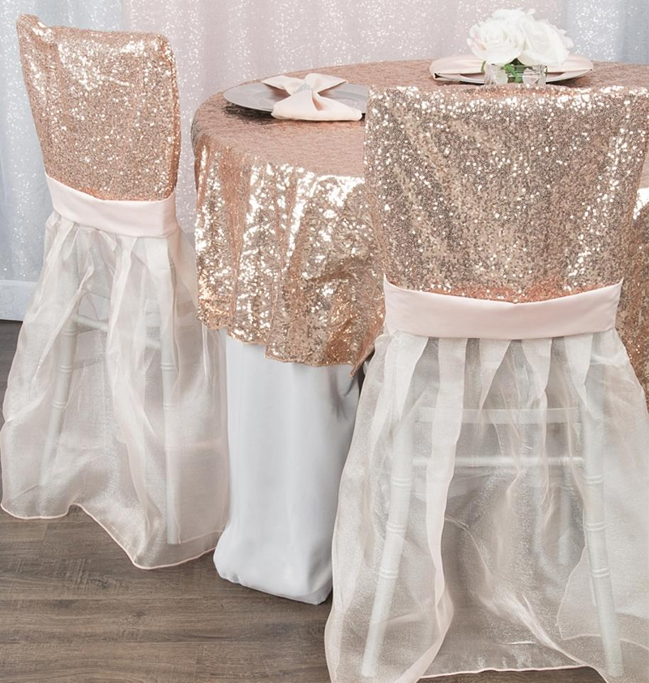 Blush White 100 Sequin Chiavari Full Chair Back Covers And Event Party Anniversary Banquet Bling Glam Reception Decoration Tradesy