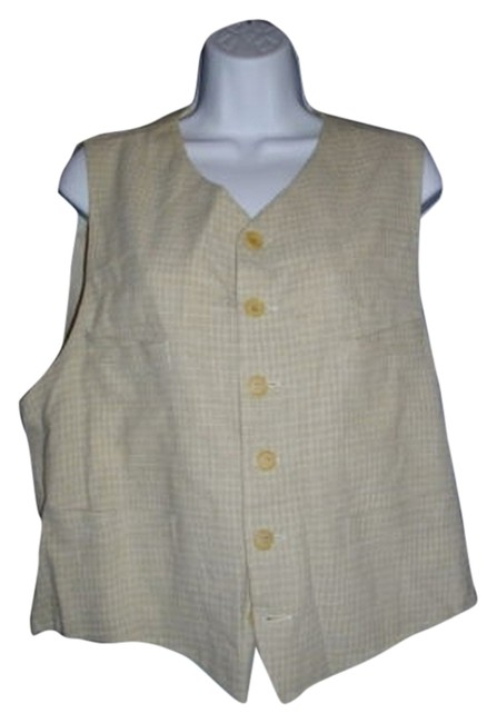 Preload https://item5.tradesy.com/images/emporio-armani-beige-or-sand-buckled-belt-rayon-nylon-flax-ramie-vest-size-20-plus-1x-1743969-0-0.jpg?width=400&height=650