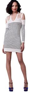 Foley + Corinna short dress Cream, Navy Sweater Knit Stripe on Tradesy