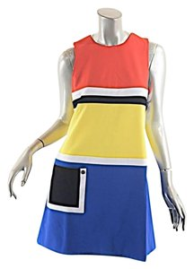 Lisa Perry short dress Red BLue Yellow White Black Retro Color on Tradesy