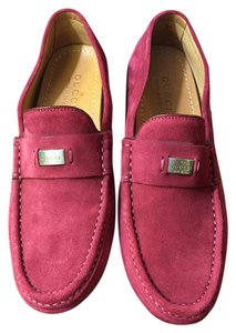 Gucci Classic Suede Slick Red Flats