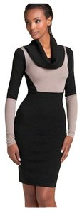 BCBGMAXAZRIA short dress Black, Gray Sweater Knit Bodycon on Tradesy