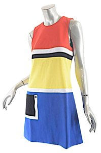 Lisa Perry short dress Red Blue Black White Yellow Color Block on Tradesy