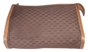 Gucci Small G Logo Print Versatile Mix And Match Early shades of brown Clutch