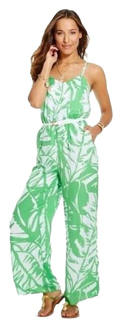 Item - Green and White 00506881 Romper/Jumpsuit