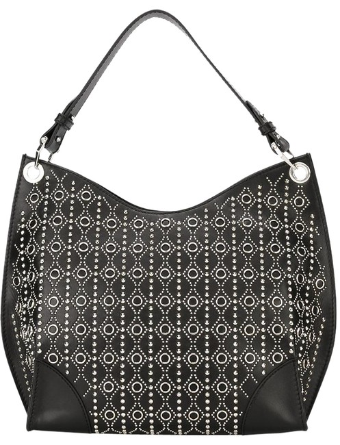 Item - Studded Legend Tote Biker Chic Skull Black Silver Leather Hobo Bag