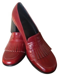 Coach Loafers Red Pumps