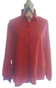 Made In Korea Button Down Shirt Red