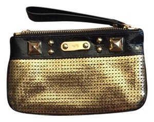Rafe Studded Sequin Wristlet in gold