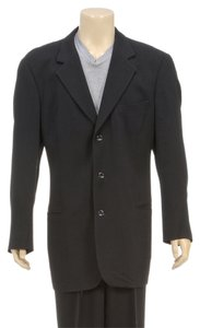 Hugo Boss Hugo Boss Black Textured Pinstriped Men's Blazer and Pants (Size 44L)
