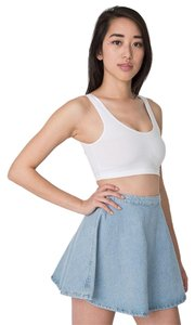 American Apparel Denim Circle Mini Skirt Medium Stone Wash Indigo