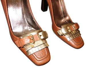 Dolce&Gabbana Dolce & Gabanna Heels Leather Brown with Gold Tassel Pumps