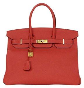Herms New Birkin Satchel in Red