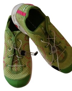 Salomon Neon green with hot pink accents Athletic