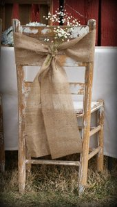 100 Burlap Chair Sashes Wedding Decor Event Party Banquet Anniversary Reception