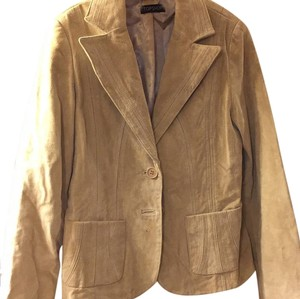 Topshop Beige Leather Jacket