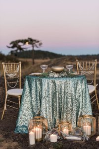 120' Round Turquoise Sequin Tablecloth Bling Glam Sparkle Wedding Clearance