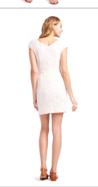 Jessica Simpson Pink Short Sleeved Lace Blush Dress