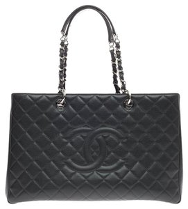 Chanel Caviar Tote in Dark Gray