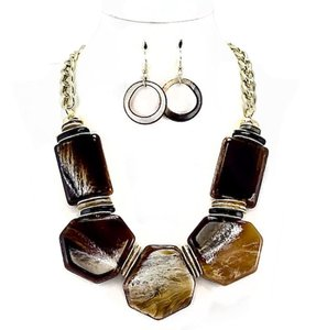 Other Tortoise shell Necklace and Earrings