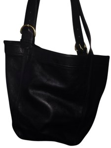 Coach Leather Soft Large Tote in Black