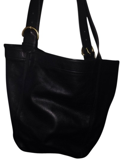 Coach Leather Vintage Bg Tote in Black