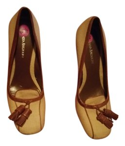 Enzo Angiolini Linen Linen/brown Pumps