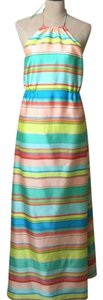 multi / stripped Maxi Dress by Ann Taylor Halter Maxi Sundress Bright