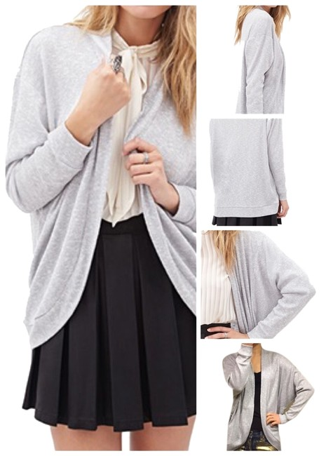 Preload https://img-static.tradesy.com/item/1744319/forever-21-heathered-grey-and-silver-metallic-knit-dolman-cardigan-size-6-s-0-0-650-650.jpg