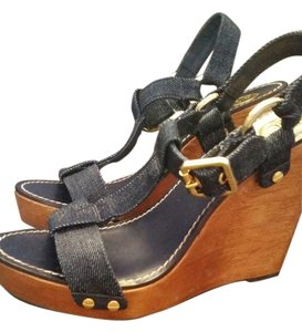 Tory Burch denim Wedges