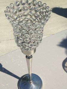 Three Crystal Candle Votive Goblets