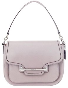 Coach Flap Crossbody Leather Putty Shoulder Bag