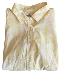 J.Crew Button Down Shirt Yellow, white