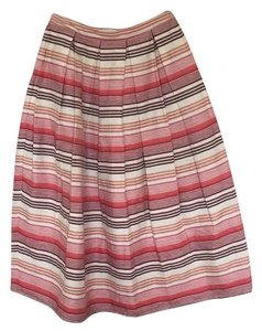 Anthropologie Skirt Ivory/ pink/ peach