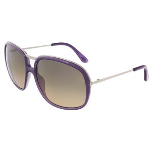 Tom Ford Tom Ford Purple/ Silver Full Rim Rectangular Sunglasses