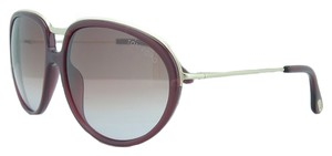Tom Ford Tom Ford Plum/ Rose Gold Full Rim Oval Sunglasses