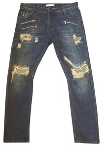 Balmain Boyfriend Cut Jeans-Distressed