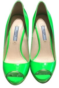 Prada Green Platforms