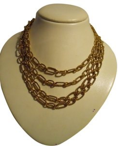 Premier Designs Premier Designs textured multi chain necklace
