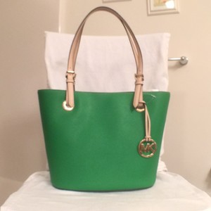 Michael Kors Satchel Leather Handbag New Mk Tote in Green