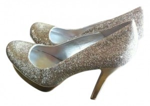 Jennifer Lopez Gold Silver Pumps