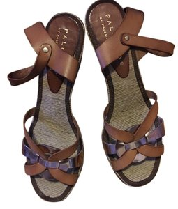 Paloma Barceló Tan and rose gold Sandals