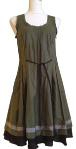Jil Sander short dress Olive Green Summer A-line Sleeveless on Tradesy