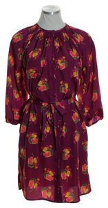 Tucker short dress Burgundy Red Floral Woven on Tradesy