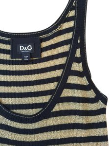 Dolce&Gabbana Top Black and gold vertical stripes